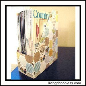 DIY-Magazine-holder