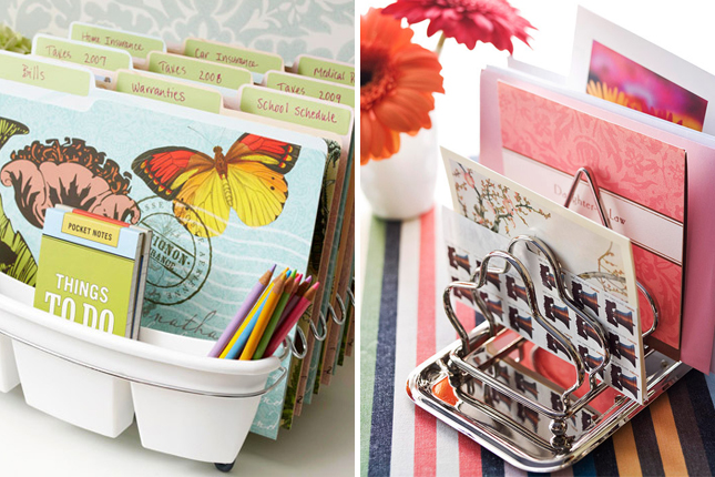 Organize Your Office With Recycled Items!