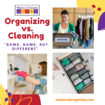 Organizing vs. Cleaning: Same, Same but Different