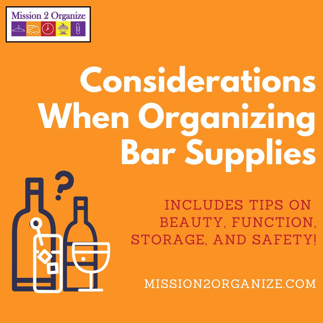 4 Considerations When Organizing Bar Supplies