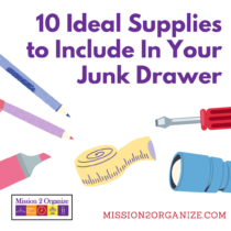 10 Ideal Supplies to Include in Your Junk Drawer